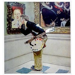 The Art Critic By Norman Rockwell Signed and Numbered