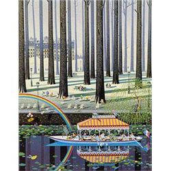 Rainbow By Yamagata Signed Serigraph