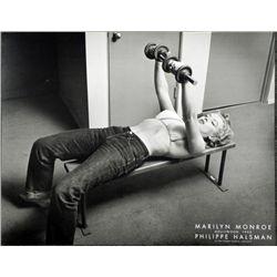 Marilyn Monroe Philippe Halsman Print -Lifting Weights