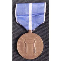 KOREAN WAR SERVICE AWARD MEDAL ON RIBBON-PERIOD PIECE