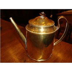 Old French brass pot late 1800's