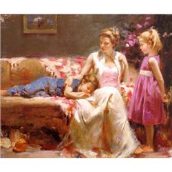 A Mothers Love by Pino 30x40 Giclee Signed