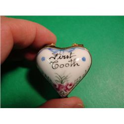 French hand painted Limoges box signed