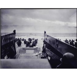Aluminum Photo Print WWII US Troops Normandy D-Day 1944