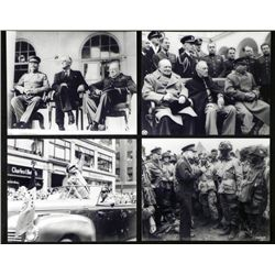 4 Photos - Great Military Leaders of WWII Roosevelt