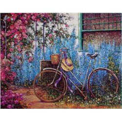 La Bicyclette by Ponti Giclee 24 x 32 Signed/Numbered