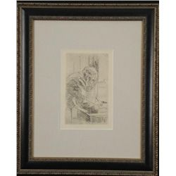 Pierre Bonnard Art Print Framed Man Writing