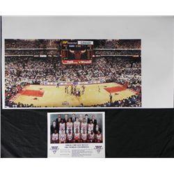 2 Chicago Bulls Prints 1st Championship Game,Team Photo