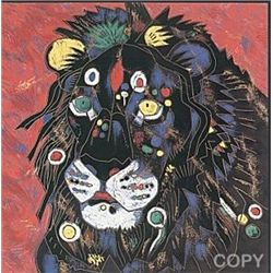 King by Jiang 36x36 Serigraph S/N