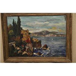 Oil on canvas by Venus C. Patterson seascape