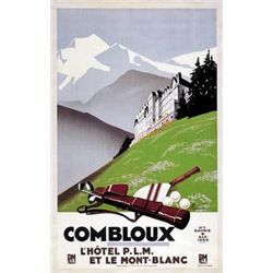 Pierre Commarmond Combloux Tennis Golf Print