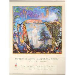William Tolliver SPIRIT OF GEORGIA 1996 Olympic Poster