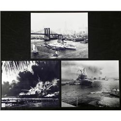 3 Photos - Bombing of Pearl Harbor, Empire State