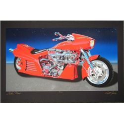 Jacobs Ness Harley AWESOMENESS Motorcycle Art on Black