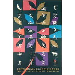 Stylish Olympics Centennial Mounted Poster 1996 Atlanta