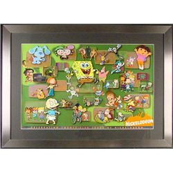 NICKELODEON 25th ANNIVERSARY Cartoon Litho Cel Framed