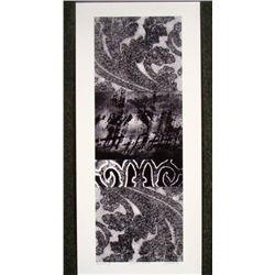 Charles Sabec Signed Abstract Art Print Echo I