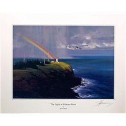 Aviation Art The Light at Kilauea Point Fellows