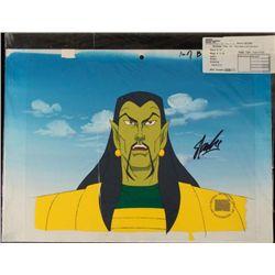Orig Iron Man Bkgrd Animation Signed Stan Lee Cel Art
