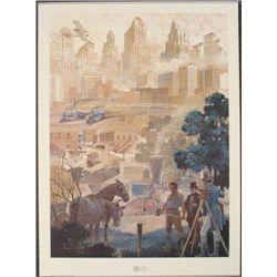 ATLANTA HISTORY 1996 Olympics Print -Wilbur Kurtz
