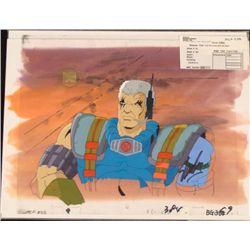 Orig X-Men Art Signed Stan Lee Background Cel Animation