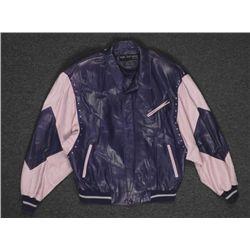 Marc Buchanan Pelle Pelle Soda Club Blue Leather Jacket