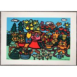 Wonderful MARCO Pop Art MOMS GARDEN Print on Canvas