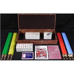 160 Pc MahJongg Set World Traveller Map Case