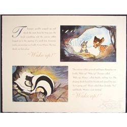 BAMBI Disney WAKE UP LE Signed Lithograph Art Print
