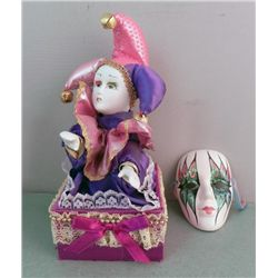 Jester Moving Music Box Dancer & Theater Mask