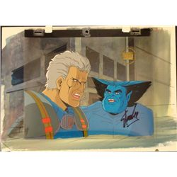 Orig X-Men Signed Stan Lee Background Cel Production