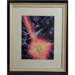 Star Trek Undiscovered Country Cast Signed Print w/ COA