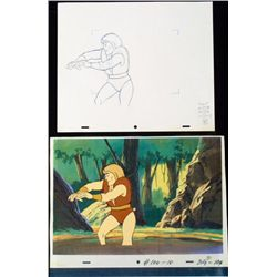 Mighty Hercules Animation Cel Orig Drawing Background