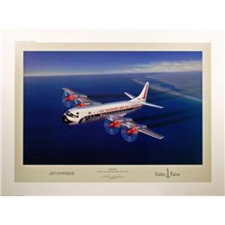 Aviation Art Electra Machat airliners