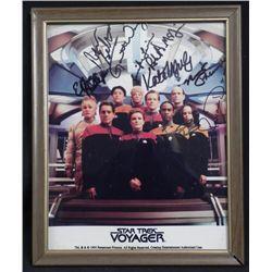 Star Trek Voyager Cast Signed Framed Photo w/COA