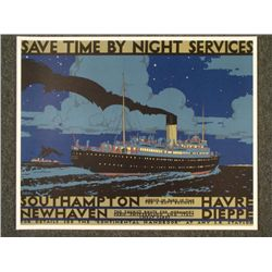 Kenneth Shoesmith: Save Time by Night  Ship Print