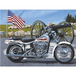 Harley Davidson Motorcycle Art Scott Jacobs BATTLEFIELD