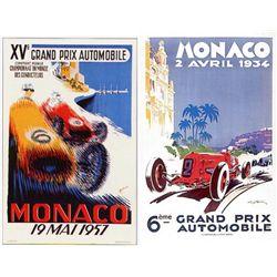 2 Advertising Prints Monaco Racing 1934, 57 Hamel Minne