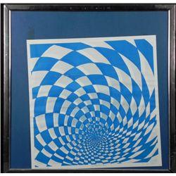 Artist Signed Op Art Publishers Proof Print Framed