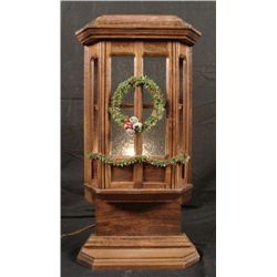 Winter Bay Window Mini Lighted Display -Hand Made Wood
