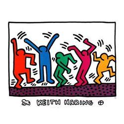 Keith Haring Art Print Untitled (Dancers)