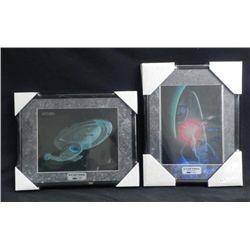 2 Star Trek ChromArt Framed Ltd Ed Prints w/COA MINT