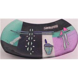 Savanah Original Art Glass Wave Plate w/Dichroic