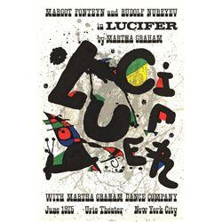 Joan Miro Lucifer 1975 Original Lithograph Art