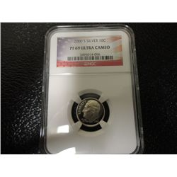 2000-S SILVER DIME NGC PF69 ULTRA CAM