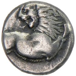 CHERSONASOS: Anonymous, 400-350 BC, AR hemidrachm (2.27g)