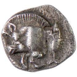 KYZIKOS: Anonymous, 5th century BC, AR obol (0.82g)