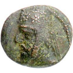 PARTHIAN KINGDOM: Mithradates II, c. 123-88 BC, AE dichalkoi (3.12g), Ekbatana