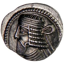 PARTHIAN KINGDOM: Vologases I, AD 51-78, AR drachm (3.52g)
