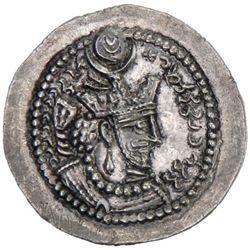 SASANIAN KINGDOM: Yazdigerd II, 438-457, AR drachm (4.15g), GW (Jurjan)